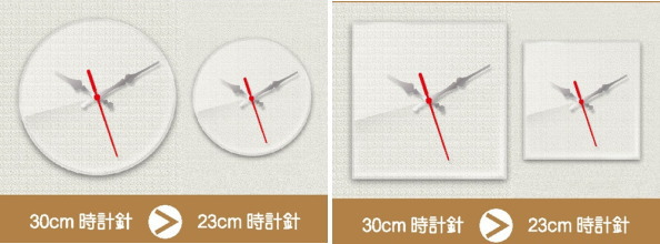 名入れ似顔絵時計ハッピーマイクロ