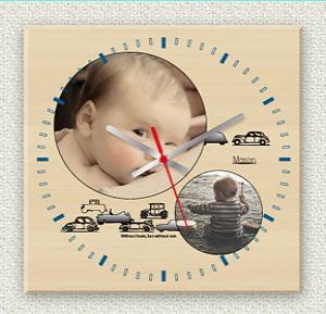 写真入りオリジナル時計ハッピーマイクロ