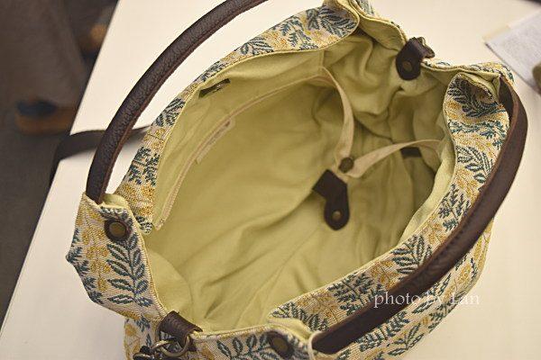 ミニラボ(minilabo)ゴブラン織り生地使い日本製2WAY手提げバッグ