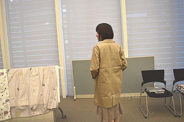 ミニラボ(minilabo)裏地も可愛い丸襟コート