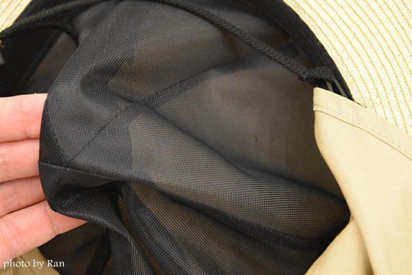 ベルメゾン超最強 丸洗いできるリボンブレードハット